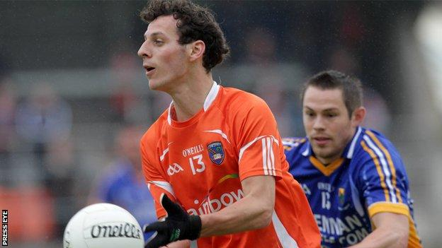 Armagh's Jamie Clarke in action against Wicklow