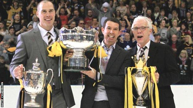 Neil Black (centre) with Corey Neilson & Gary Moran