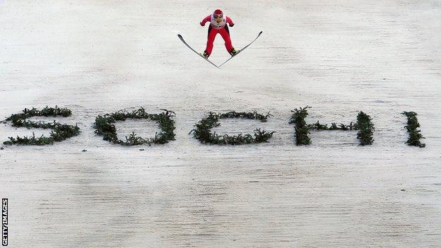 Sochi ski jump