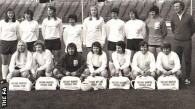 The first England women's national team in 1972