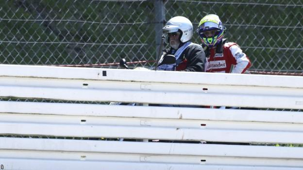 Felipe Massa on a bike