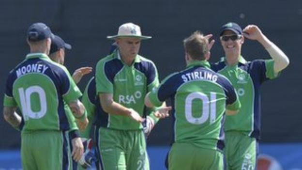 Paul Stirling is congratulated