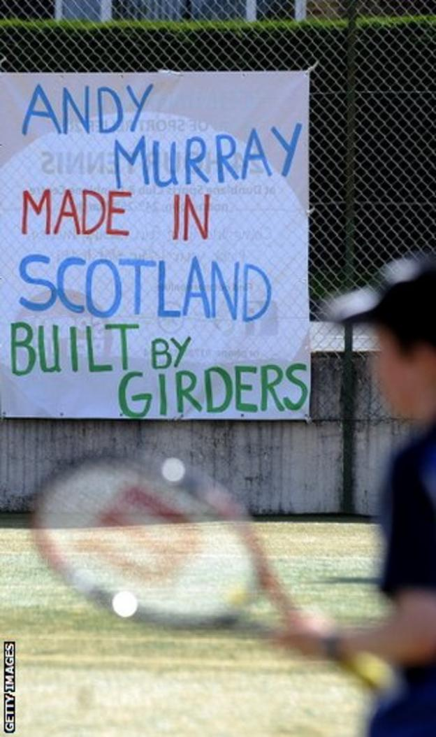Andy Murray's home tennis club voices its support for its iron man of tennis
