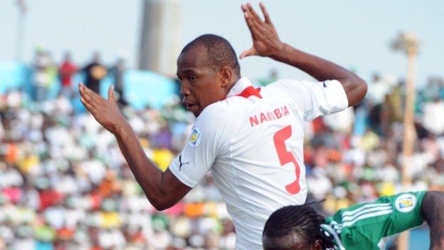 Namibia captain Dacosta Angula