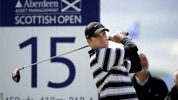 Marc Warren at last year's Scottish Open