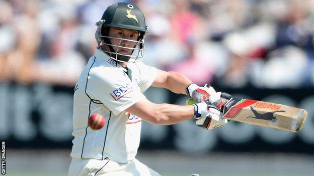 Nottinghamshire's Steven Mullaney