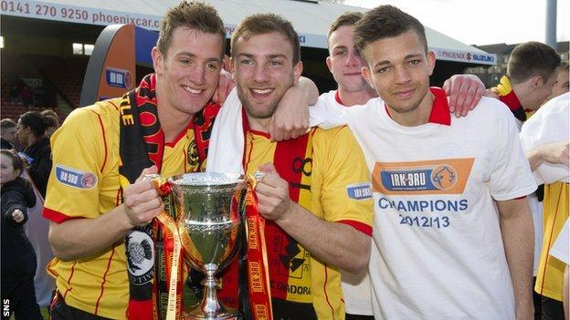 Partick Thistle players