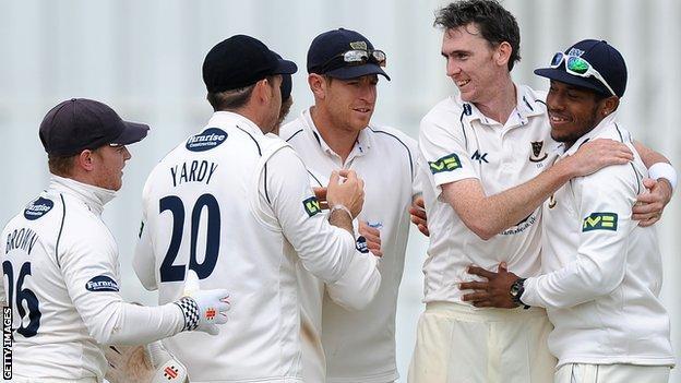 Sussex celebrate a wicket