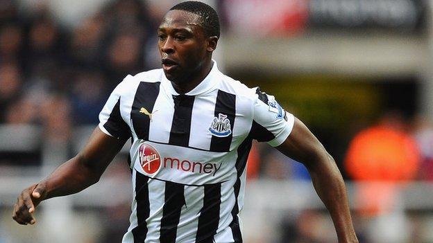 Newcastle's Nigerian striker Shola Ameobi