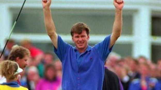 Nick Faldo winning at Muirfield in 1992