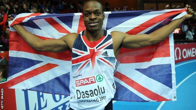 James Dasaolu can run faster, according to GB performance director Neil Black