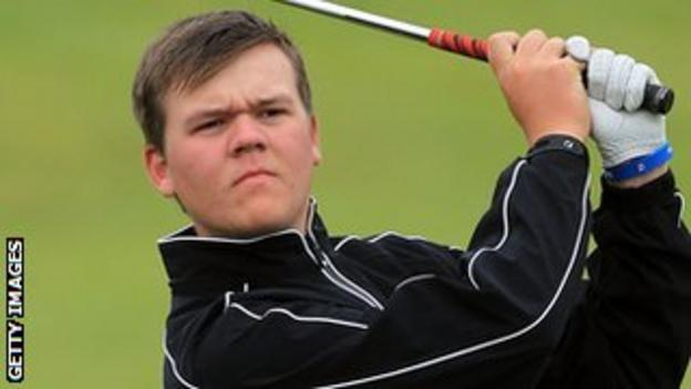 Amateur Rhys Pugh is playing in his first Open Championship