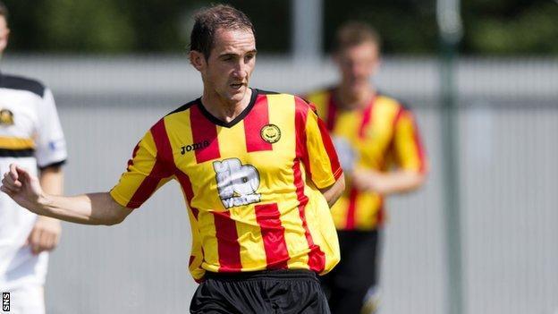 Partick Thistle midfielder Mark Kerr