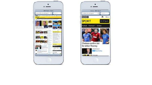 BBC Sport mobile images