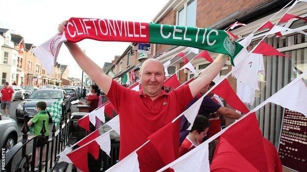 A number of supporters had divided loyalties at Solitude