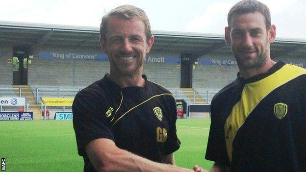 Gary Rowett (left) and Rory Delap