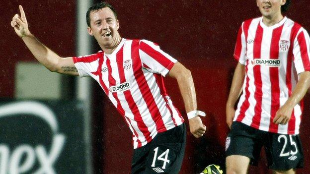 Paddy Kavanagh celebrates after scoring