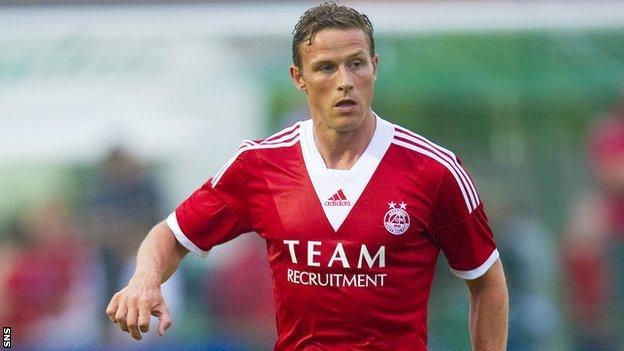 Aberdeen player Chris Clark