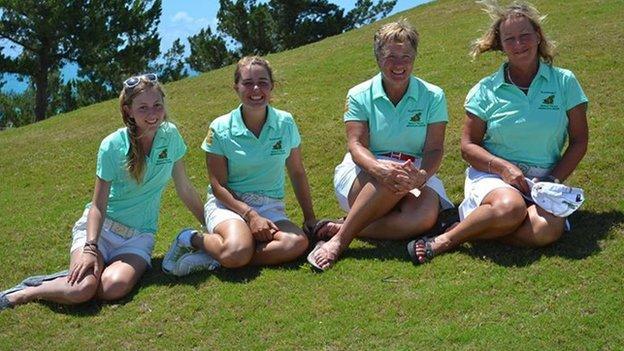 The Guernsey women's golf team
