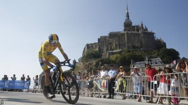Chris Froom on stage 11's individuual time trial