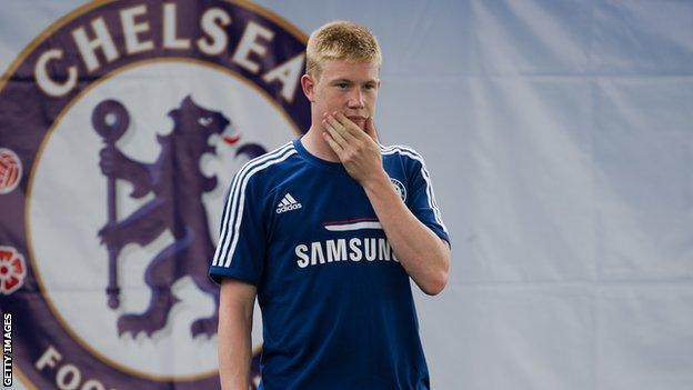 Chelsea striker Kevin De Bruyne