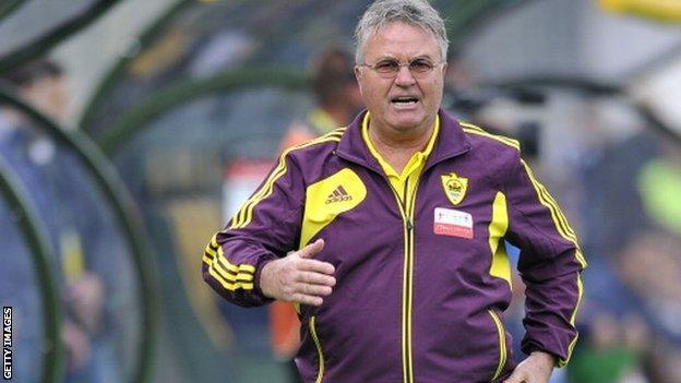 Guus Hiddink resigns as Anzhi Makhachkala coach - BBC Sport