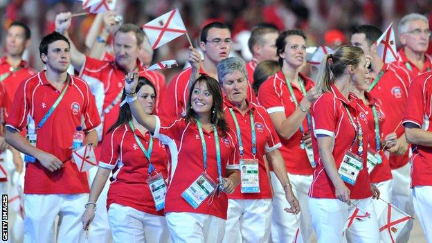 Jersey team at the 2010 Commonwealth Games