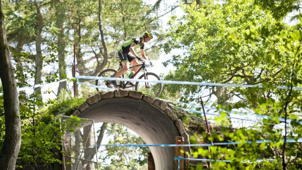The new course at Cathkin Braes, which is free for members of the public to use, will host the Commonwealth Games mountain bike races next year