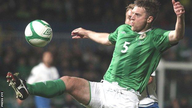 Stephen Craigan in action for Northern Ireland