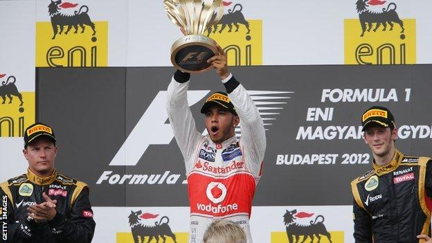 Lewis Hamilton wins in 2012