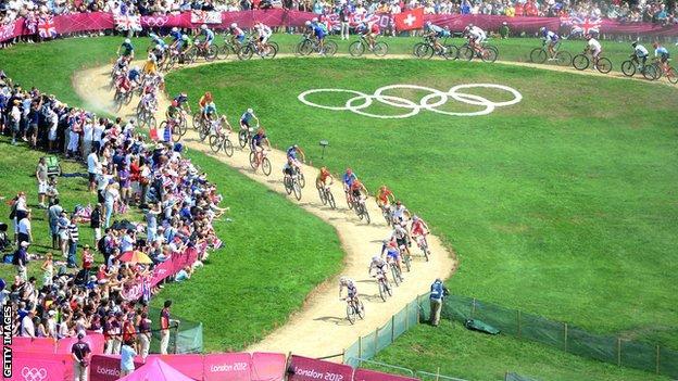 Hadleigh Farm Olympic mountain bike