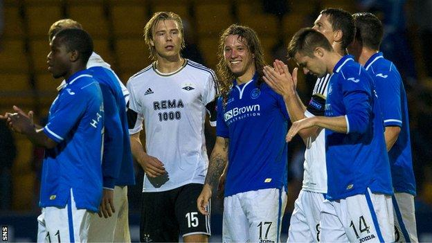 St Johnstone at final whistle