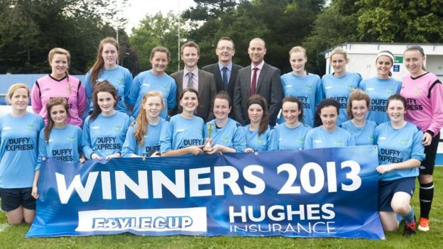 The Lagan women's team that took victory at the Foyle Cup