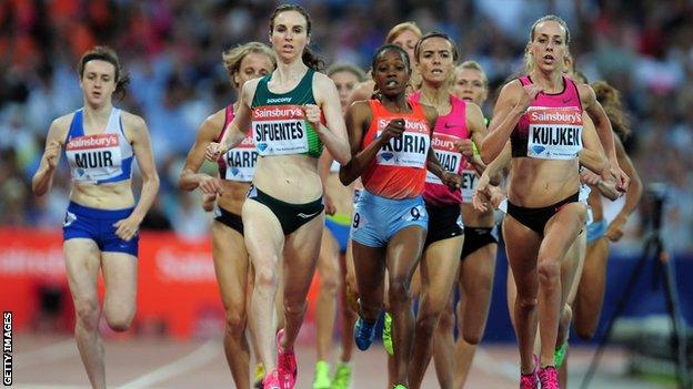 Laura Muir in the 1500m