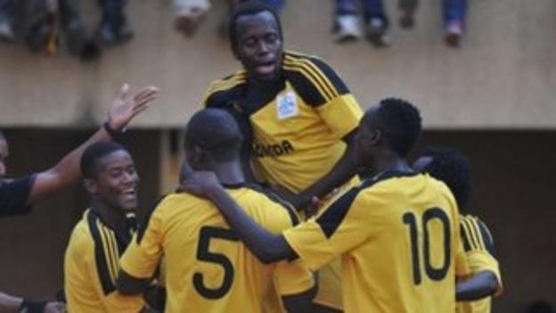 Uganda celebrate win in African Nations Championship