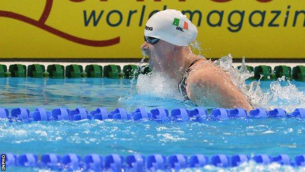 Sycerika McMahon during Sunday's individual medley