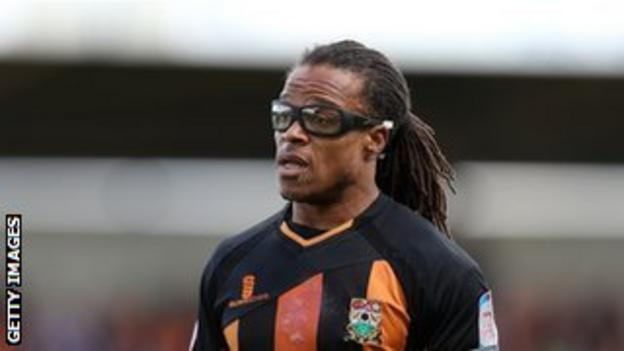 Barnet player/head coach Edgar Davids