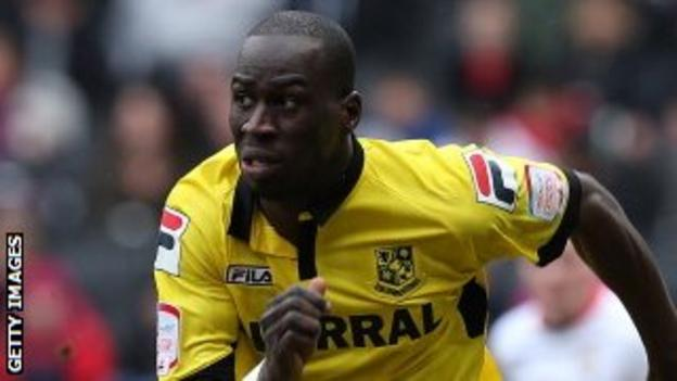 Mamady Sidibe in action for Tranmere