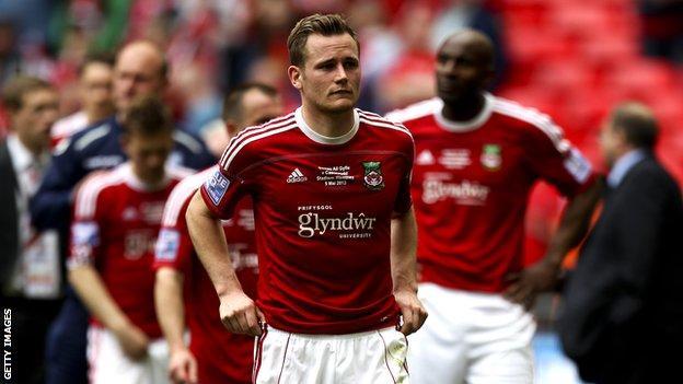 Wrexham's Joe Clarke following play-off defeat against Newport