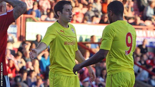Peter Whittingham and Fraizer Campbell (right)
