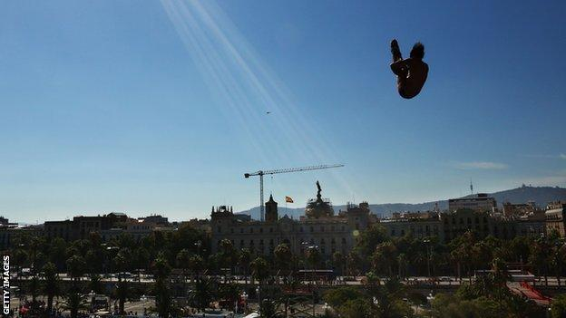 High diving at World Championships in Barcelona