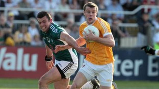 James Loughrey in action for Antrim before moving to Cork