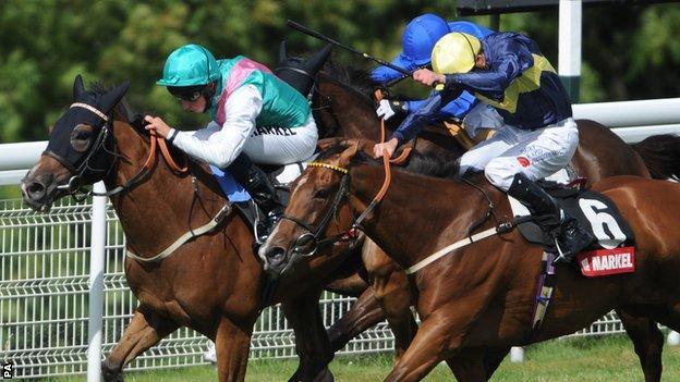 Winsili winning the Nassau Stakes