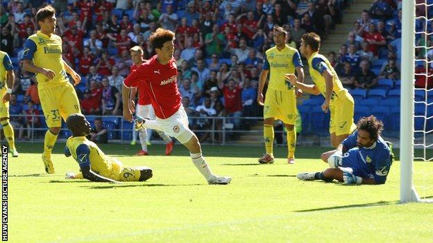 Kim Bo-Kyung scores for Cardiff