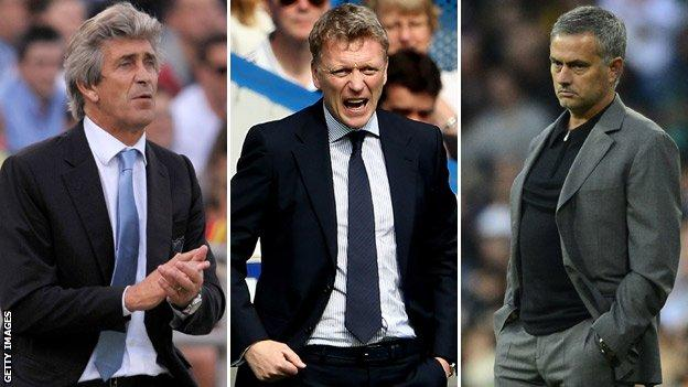 David Moyes, Jose Mourinho, Manuel Pellegrini