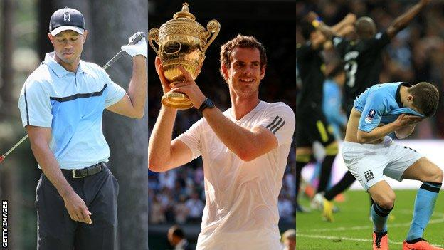 Tiger Woods, Andy Murray, Manchester City