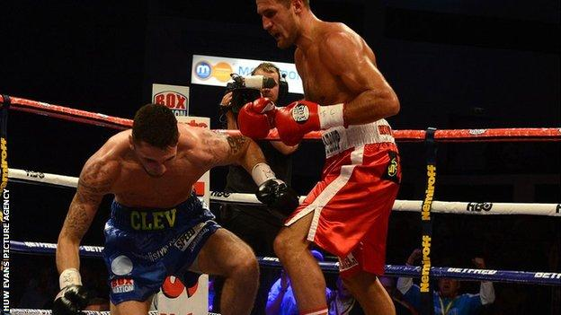 Sergey Kovalev sends Nathan Cleverly to the canvas