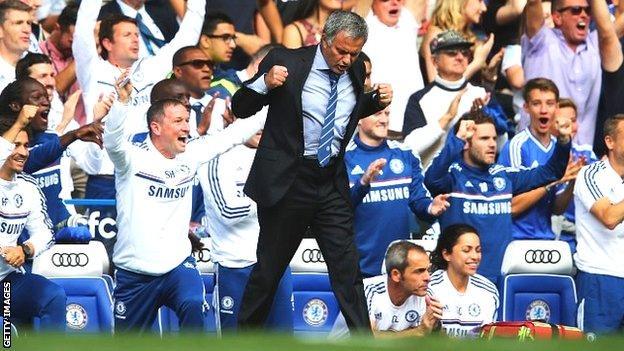 Jose Mourinho celebrates