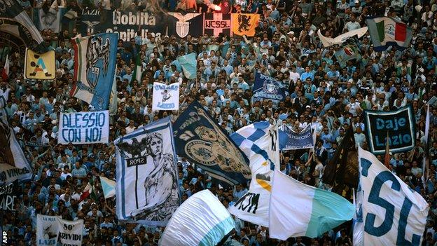 serie a lazio ordered to close stand after racist chants bbc sport racist chants bbc sport