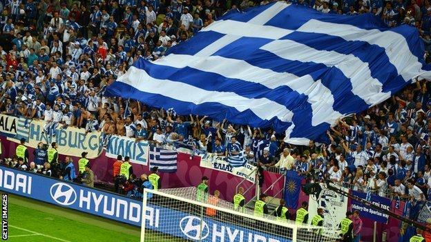 Greek football supporters